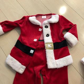 クリスマスサンタ衣装90サイズ (衣装)