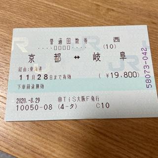 タイムセール!京都岐阜 JR在来線チケット(鉄道乗車券)