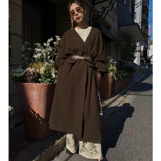 アメリヴィンテージ(Ameri VINTAGE)のAmeri VINTAGE*2WAY NO COLLAR BELT COAT(ロングコート)
