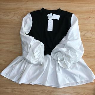 しまむら - 新品タグ付き♡ しまむら ドッキングpo ドッキングシャツ ブラウス