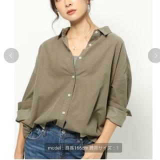 BARNYARDSTORM - ♡美品♡BARNYARDSTORM 細コール2WAYシャツ カーキ 0サイズ