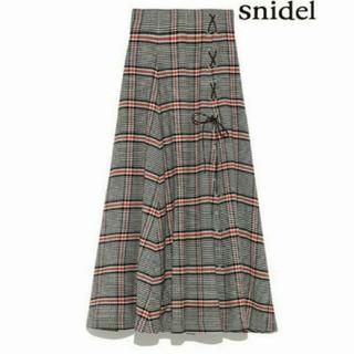 snidel - snidel チェックスリットロングスカート