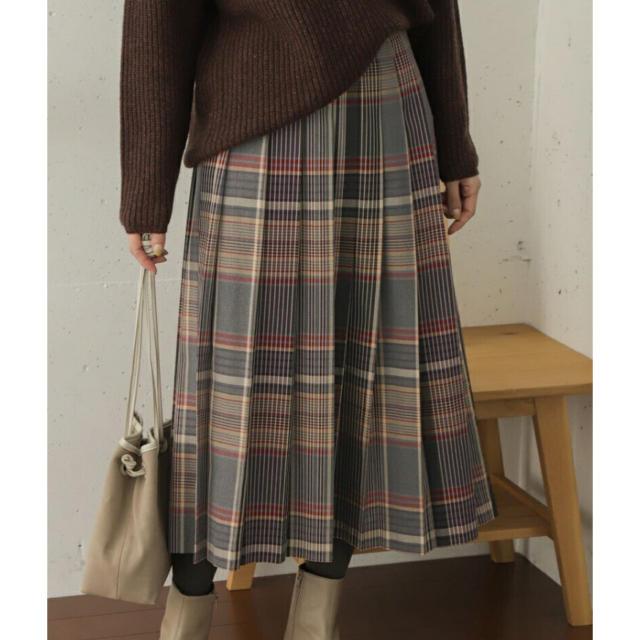 DOORS / URBAN RESEARCH(ドアーズ)の新品☆アーバンリサーチ ドアーズ   チェックプリーツロングスカート レディースのスカート(ロングスカート)の商品写真