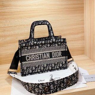 Christian Dior - クリスチャン ディオール ブック トートバッグ ブラック 小