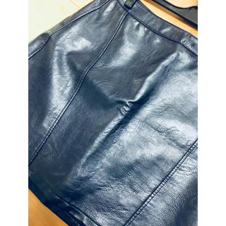 ZARA - ザラ  スカート  Mサイズ  ネイビー  合皮