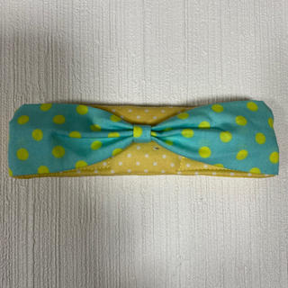 マジックテープ 水筒 肩紐 カバー クッション 肩あて リボン ミントブルー黄(外出用品)
