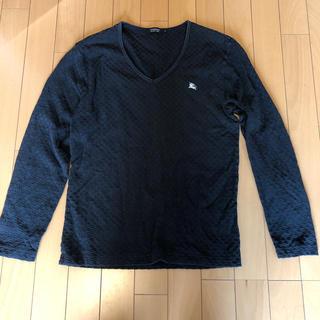 バーバリーブラックレーベル(BURBERRY BLACK LABEL)の【メンズ】バーバリー 黒トップス 2サイズ(Tシャツ/カットソー(半袖/袖なし))