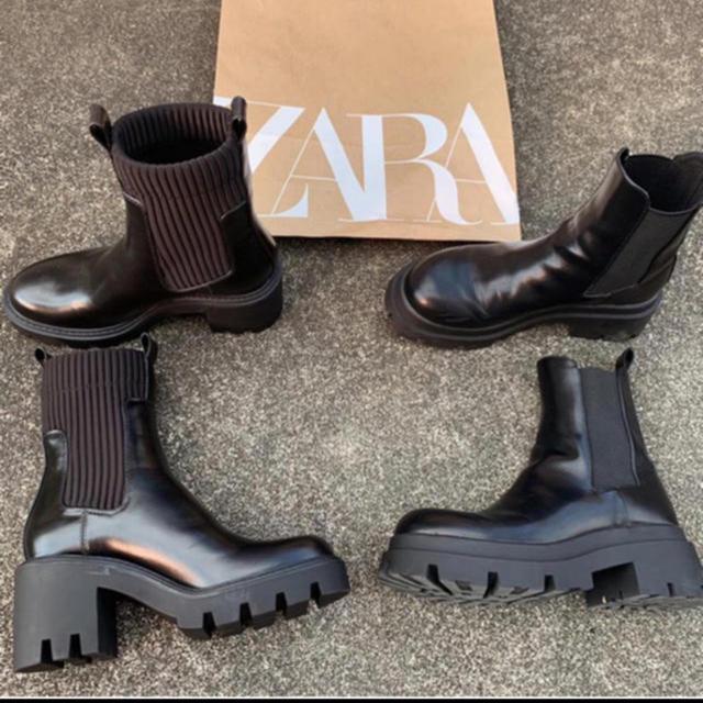 ZARA(ザラ)のタグ付き★ZARA ブーツ ショートブーツ レディースの靴/シューズ(ブーツ)の商品写真
