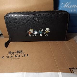 COACH - COACHスヌーピーコラボ長財布黒