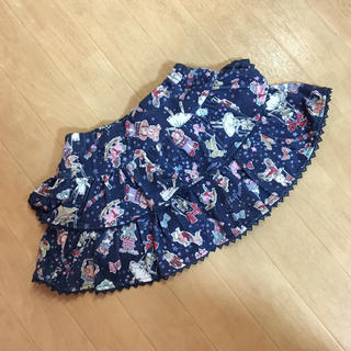 mezzo piano - メゾピアノ☆おもちゃ柄パンツ付きスカート☆110