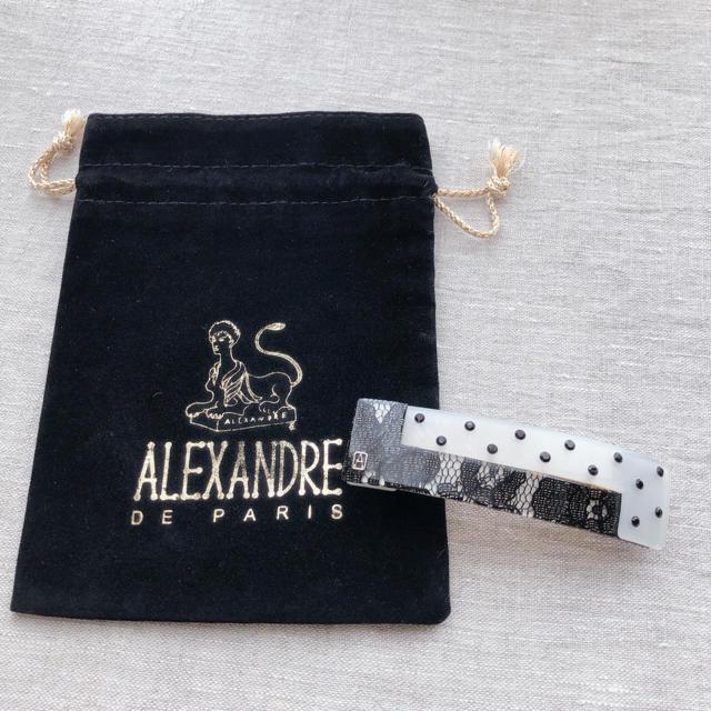 Alexandre de Paris(アレクサンドルドゥパリ)のアレクサンドルドゥパリ モノトーン バレッタ レディースのヘアアクセサリー(バレッタ/ヘアクリップ)の商品写真