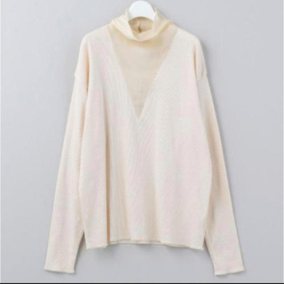 BEAUTY&YOUTH UNITED ARROWS - roku 6 SILK HIGH NECK RIB PULLOVER 完売品