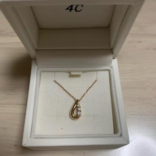 ヨンドシー(4℃)の4°Cダイヤモンドネックレス  k18(ネックレス)