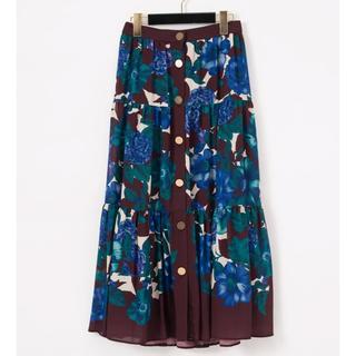 GRACE CONTINENTAL - グレースコンチネンタル フォークロアflowerスカート