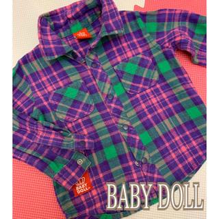 ベビードール(BABYDOLL)のBABY DOLLチェックシャツ(Tシャツ/カットソー)