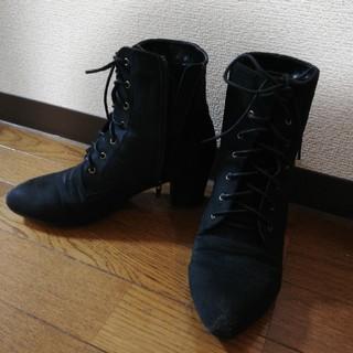 ブーツ ベロア調 4L カンド(ブーツ)