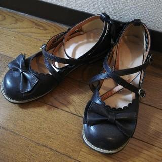 パンプス ロリータ ロリィタ向け ハートバックル ブラウン おでこ靴 ラウンド(ハイヒール/パンプス)