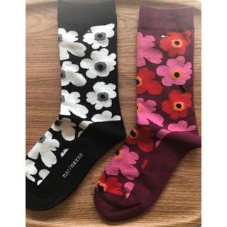 marimekko - marimekko  靴下 新品未使用 2枚セット!