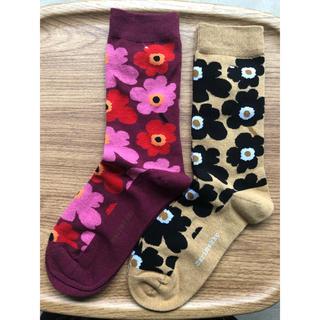 marimekko - marimekko 靴下 新品未使用 2枚セット