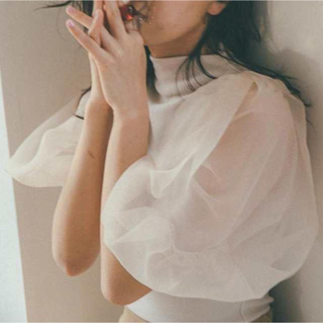 snidel(スナイデル)の最終値下げ❗️snidel ♡ パフスリーブ レディースのトップス(カットソー(半袖/袖なし))の商品写真