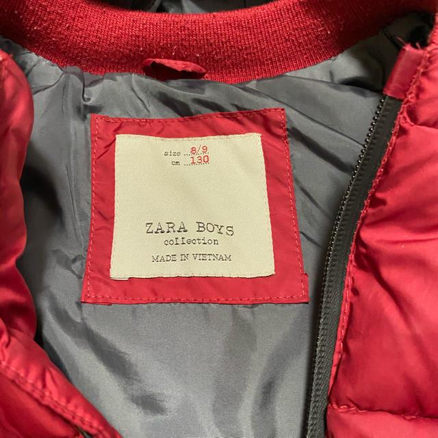 ZARA KIDS(ザラキッズ)のZARAキッズ ザラ 中綿ダウンベスト 130 キッズ/ベビー/マタニティのキッズ服男の子用(90cm~)(ジャケット/上着)の商品写真