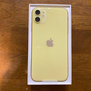 アップル(Apple)の[送料無料!]iPhone 11 64GB イエロー(スマートフォン本体)