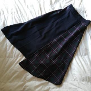 スコットクラブ(SCOT CLUB)の美品✨グランターブル チェック 切り替えスカート(ロングスカート)
