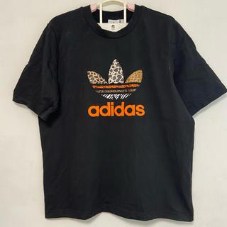 adidas - 極美品 アディダスオリジナルス アニマル柄 Tシャツ ブラック オレンジ 黒