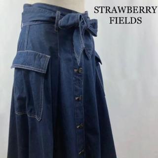STRAWBERRY-FIELDS - STRAWBERRY-FIELDS デニムスカート