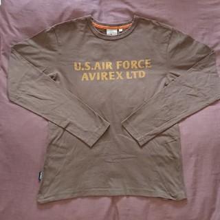 AVIREX - アヴィレックス  AVIREXフロント&バックプリントロング Tシャツ M