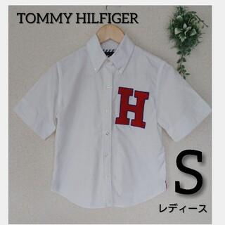トミーヒルフィガー(TOMMY HILFIGER)のTOMMY FILFIGER シャツ ホワイト レディース M(シャツ/ブラウス(半袖/袖なし))