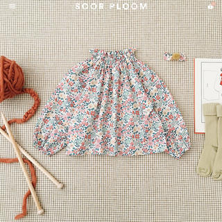 Caramel baby&child  - soor ploom Imelda Blouse, Floral サイズ8y