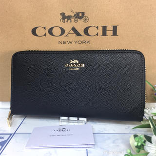 コーチ(COACH)のコーチ 長財布 ブラック ロゴ  【新品】(長財布)