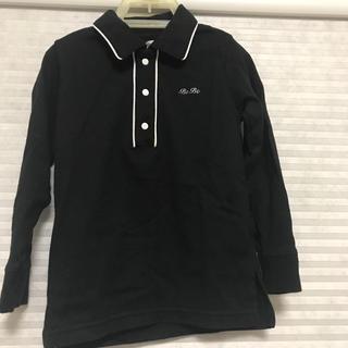 ベベ(BeBe)のべべ 襟付き ポロシャツ風 ブラック 男の子 100(ブラウス)