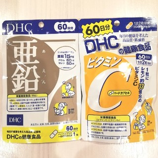 DHC - 即日発送☆DHC 亜鉛+ビタミンC 60日分 2袋セット