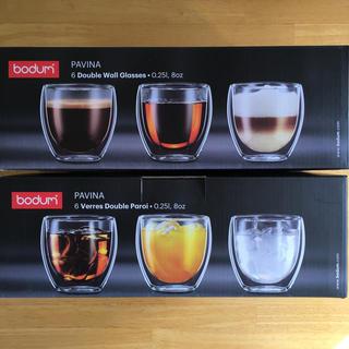ボダム(bodum)の【送料込み】ボダム パヴィーナ ダブルウォールグラス [6個入](タンブラー)
