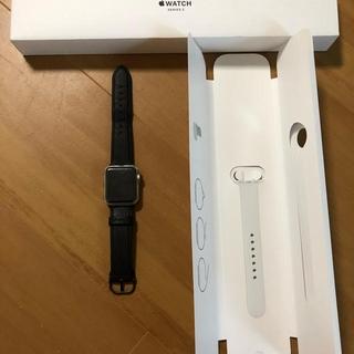 アップルウォッチ(Apple Watch)のApple watch series 3 38mm シルバー アルミニウム (腕時計(デジタル))