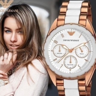 エンポリオアルマーニ(Emporio Armani)の1個のみ!エンポリオアルマーニ AR5942 レディース 新品未使用 送料無料(腕時計)