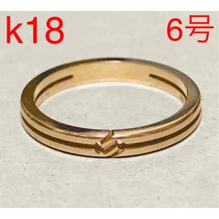 Gucci - GUCCI グッチ k18 PG ノット インフィニティ リング 6号 指輪 ④