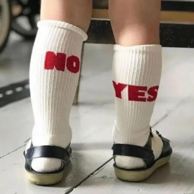 こども ビームス(コドモビームス)のyesno ソックス socks ベビー キッズ キッズ/ベビー/マタニティのこども用ファッション小物(靴下/タイツ)の商品写真