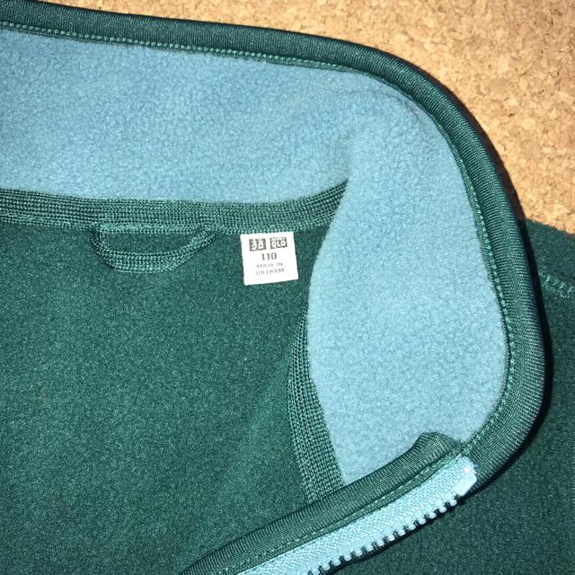 UNIQLO(ユニクロ)の(110㎝) ユニクロ キッズ ・フリースジャケット  キッズ/ベビー/マタニティのキッズ服男の子用(90cm~)(ジャケット/上着)の商品写真