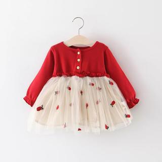 チュールベビードレス⭐︎韓国子供服⭐︎新品⭐︎80サイズ