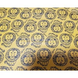 リサラーソン(Lisa Larson)のリサラーソン生地  35×50cm ラミネート ライオン(生地/糸)