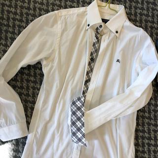 バーバリーブラックレーベル(BURBERRY BLACK LABEL)のシャツ バーバリー  ブラックレーベル  ワイシャツ Yシャツ 白(シャツ)