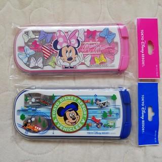 Disney - TDR ミッキーマウス&ミニーマウス ランチ用カトラリー2点セット