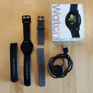 ギャラクシー(Galaxy)のGalaxy Watch Active 追加のベルトと充電器のおまけ付き!(腕時計(デジタル))