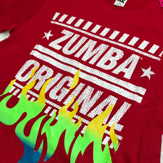 Zumba - 【人気商品❗️】ZUNBA ズンバTシャツ 赤 XS/S