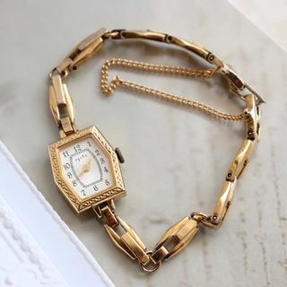 アガット 腕時計 ゴールド