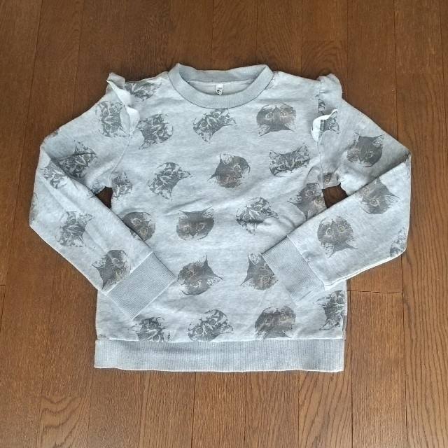nino 130 猫柄 トレーナー キッズ/ベビー/マタニティのキッズ服女の子用(90cm~)(Tシャツ/カットソー)の商品写真