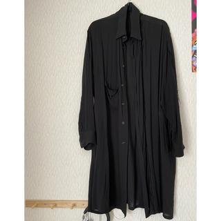 Yohji Yamamoto - yohji yamamoto 断ち切りレーヨンロングシャツ